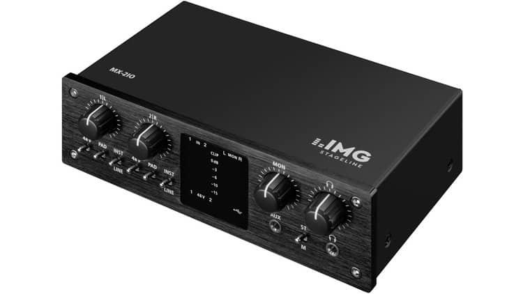 Audio Interface im Halbprofil - IMG STAGELINE MX-2IO Review