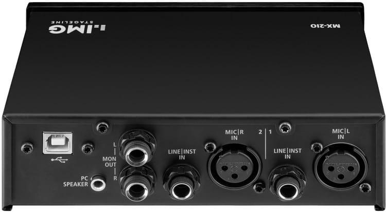 Rückseite & Anschlüsse - IMG STAGELINE MX-2IO Test