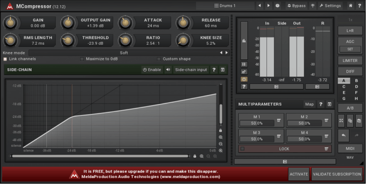 MeldaProduction MCompressor - Kompressor Plugin (Free)