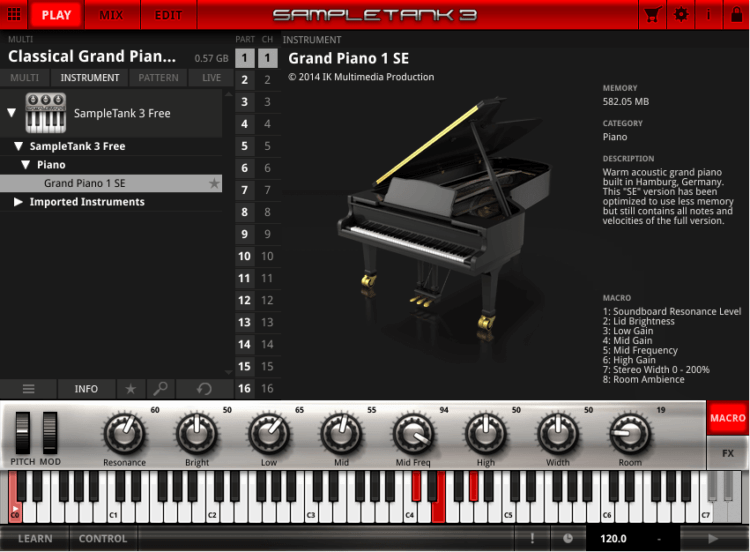 IK Multimedia SampleTank 3 Grand Piano 1 SE - Piano VST