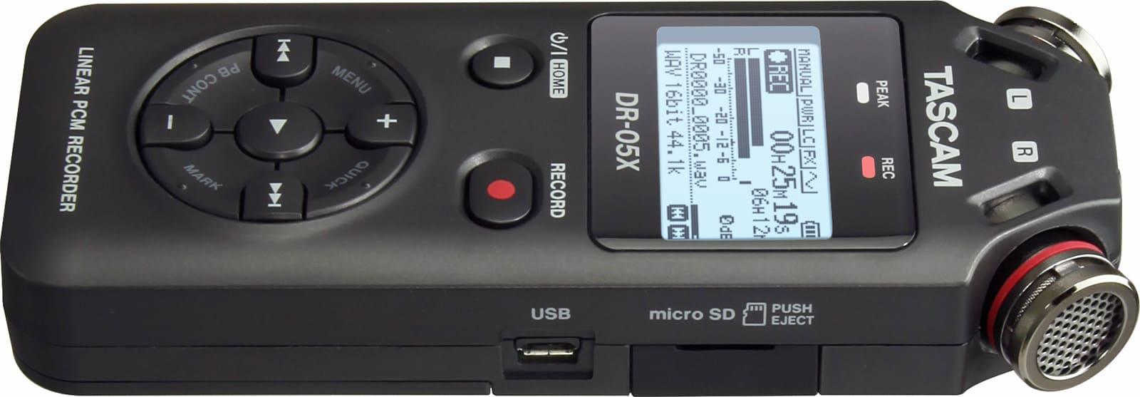USB & microSD - TASCAM DR-05X Erfahrung