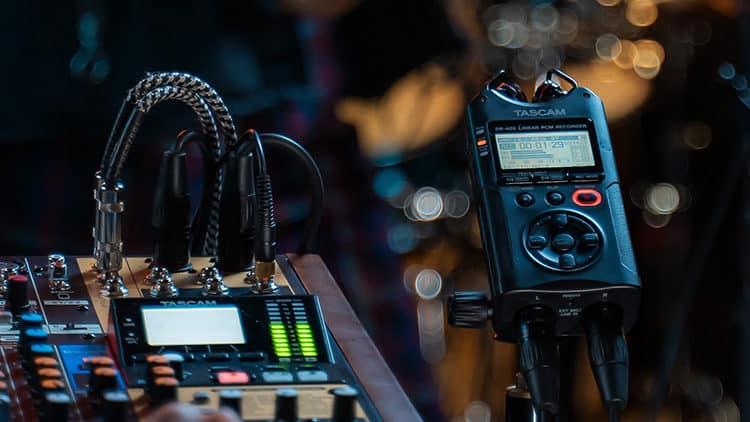 Live Music Recording - TASCAM DR-40X