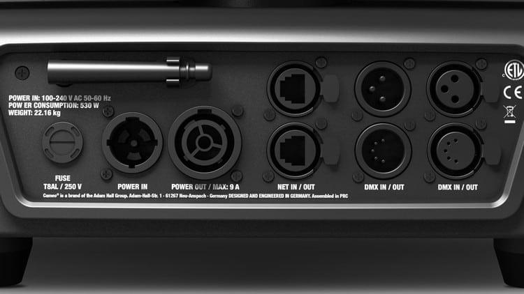 Anschlüsse Rückseite Cameo OPUS S5