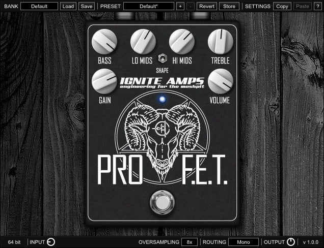 IGNITE AMPS ProF.E.T. - Free VST Distortion