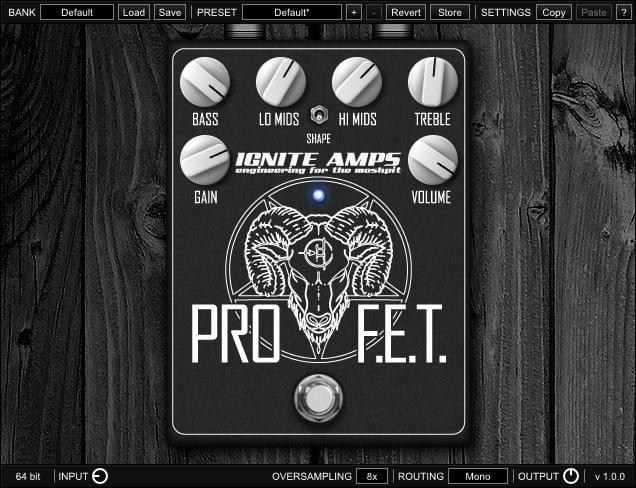IGNITE AMPS ProF.E.T. - Free VST Distortion