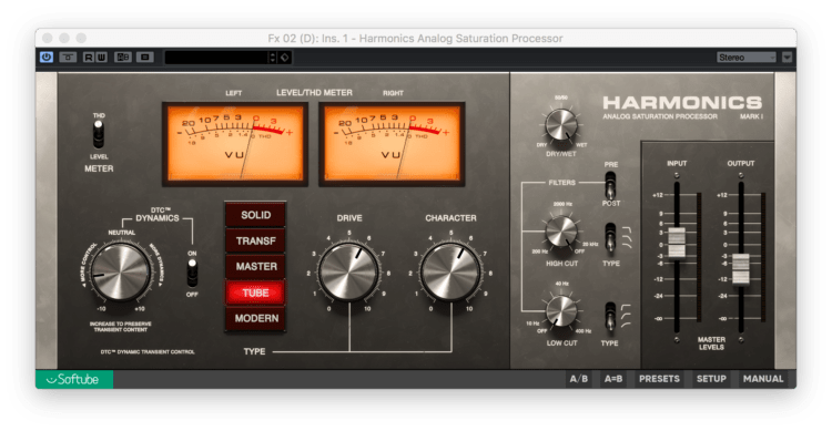 Softube Harmonics Analog Saturation Processor Testbericht