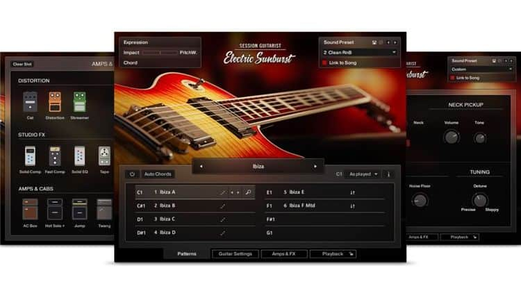 Session Guitarist – Strummed Acoustic 2 & Electric Sunburst