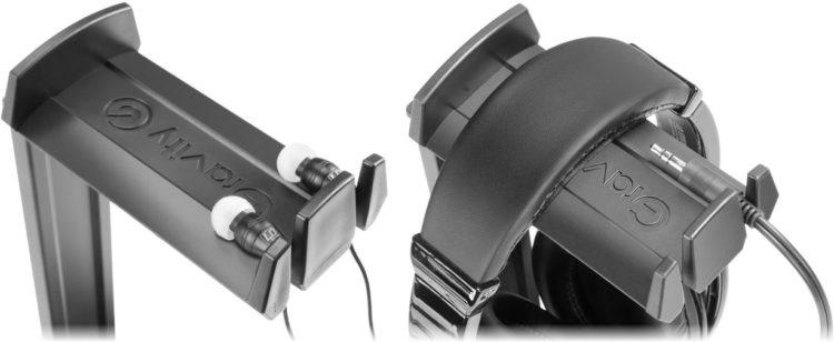 Kabelordner am Kopfhörerständer Gravity HP HTT 01 B