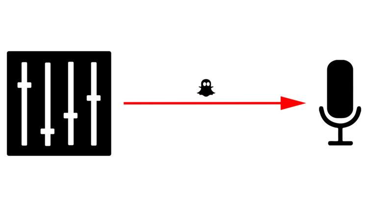 Die Phantomspannung wird vom Mischpult oder Mikrofonvorverstärker über ein Kabel an das Mikrofon geschickt.