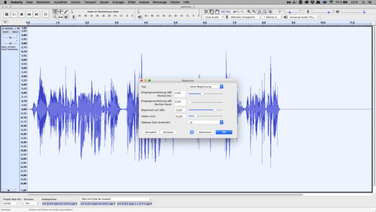 Typischer Radio-Klang mit dem Limiter
