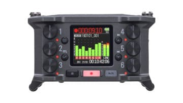 Zoom F6 Field Recorder Frontansicht von vorne