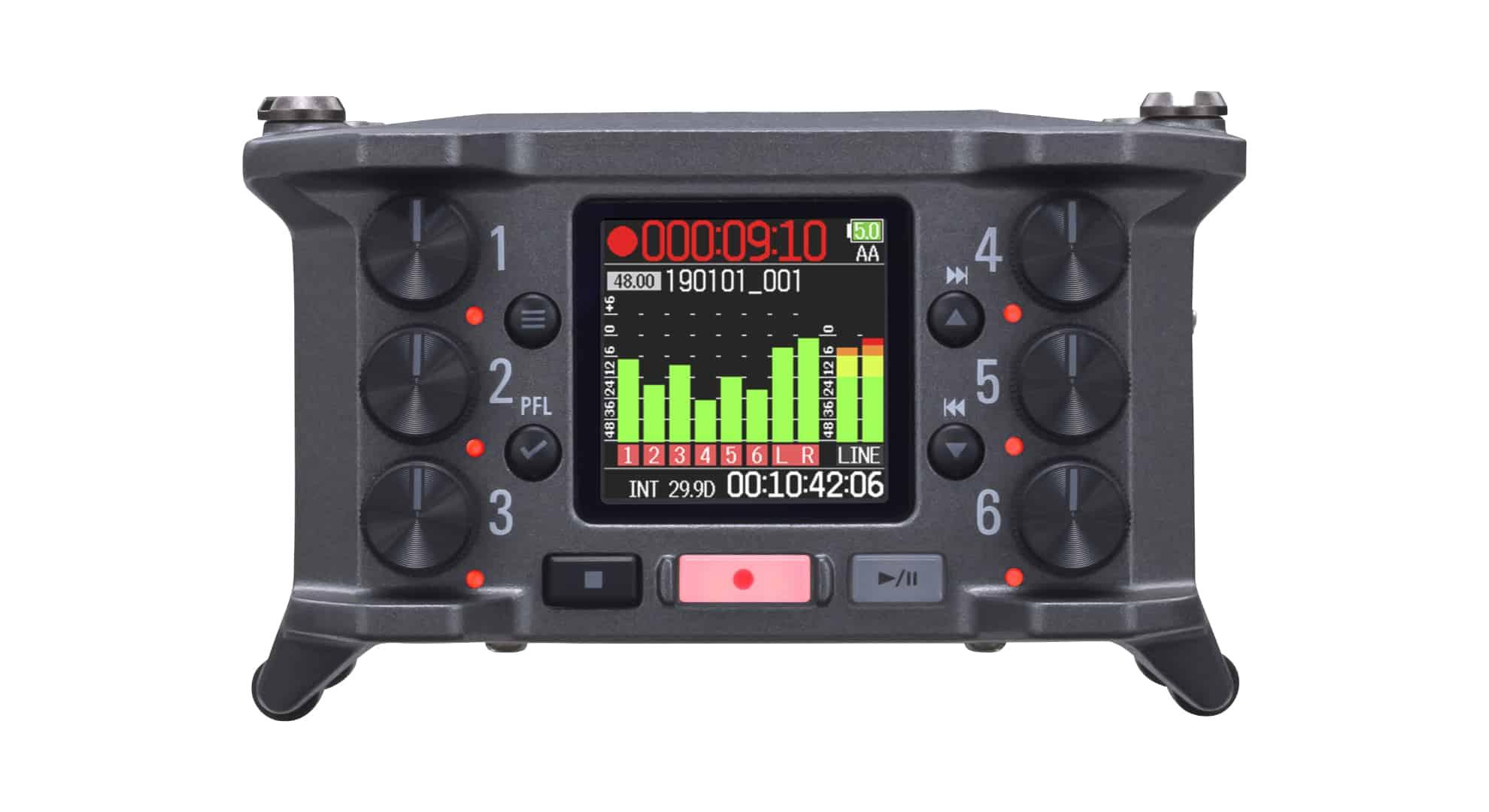 Zoom F6: Field Recorder mit 6 Kanälen