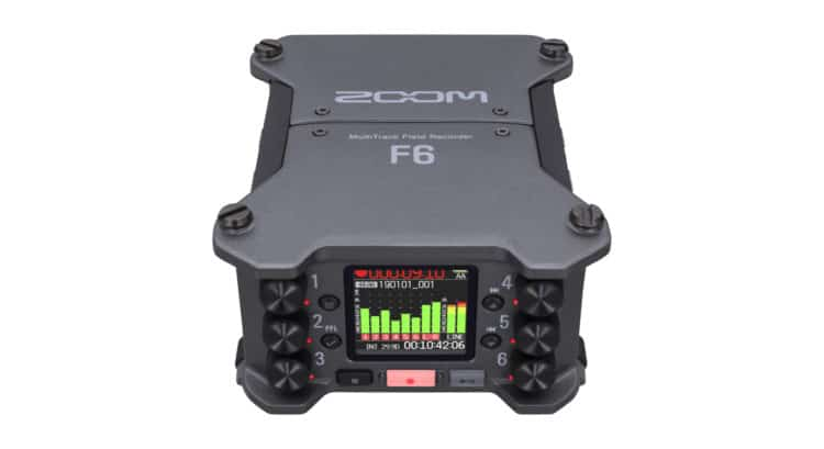 Zoom F6 Field Recorder Front & Top