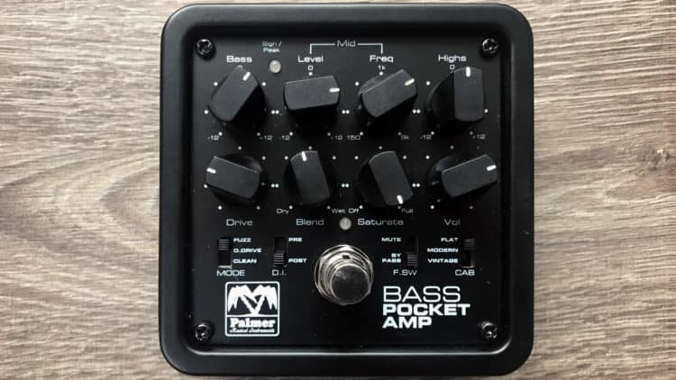 Palmer Pocket Bass Amp Test