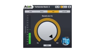 Free VST Plugin Acon Digital Verberate Basic