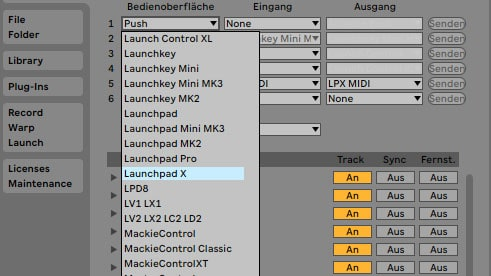Launchpad X Skript in Ableton Live