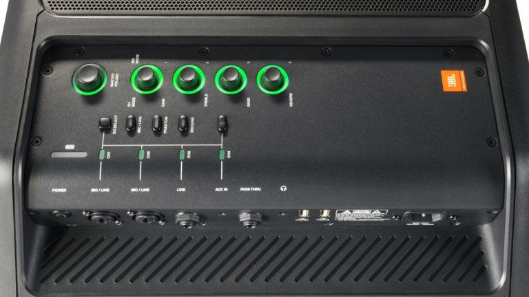 Mixer und Anschlüsse der JBL EON ONE Compact
