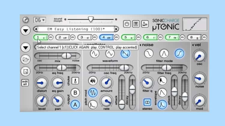 vst plugin techno sonic charge microtonic