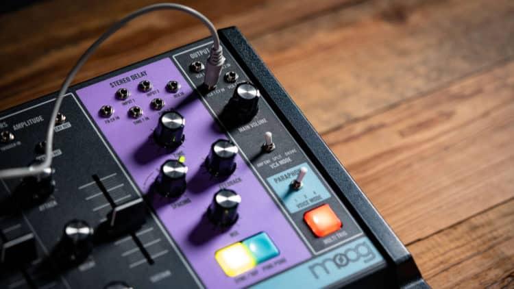 Ein analoges Stereo-Delay sorgt für eine reichhaltige Effektierung in der Signalkette des Moog Matriarch.