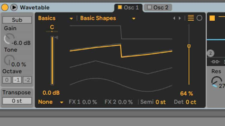 Wavetable Synth in den SINEE Ableton Live Templates