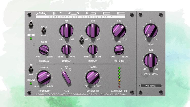 apogee symphony ecs channel strip plugin