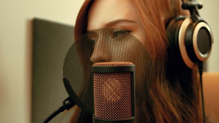 studiomikrofon rap gesang
