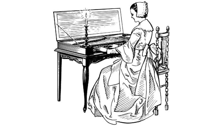 CLavichord Tasteninstrument