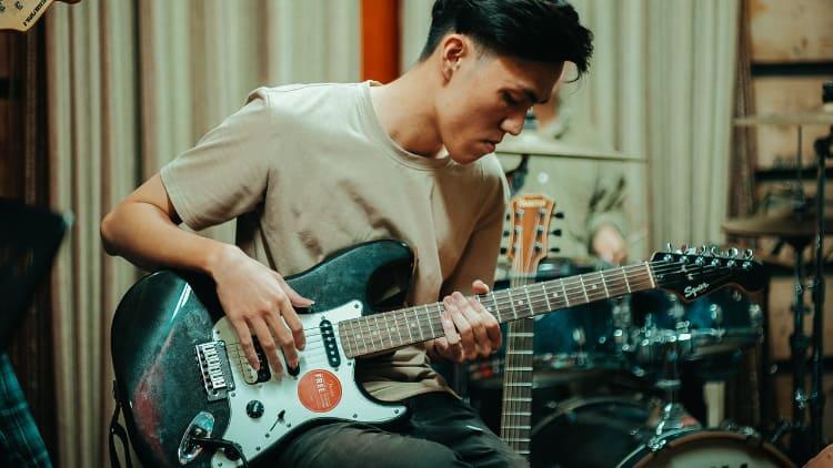 Gitarren-Riff defintion