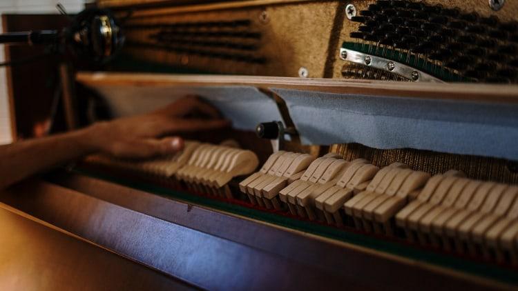Hammermechanik Hybrid-Piano Tasteninstrumente