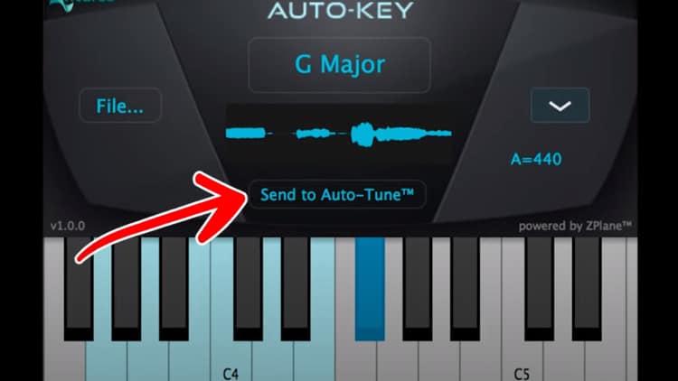 Auto-Key Autotune einstellen