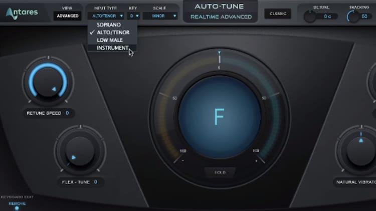 Input Type Autotune einstellen