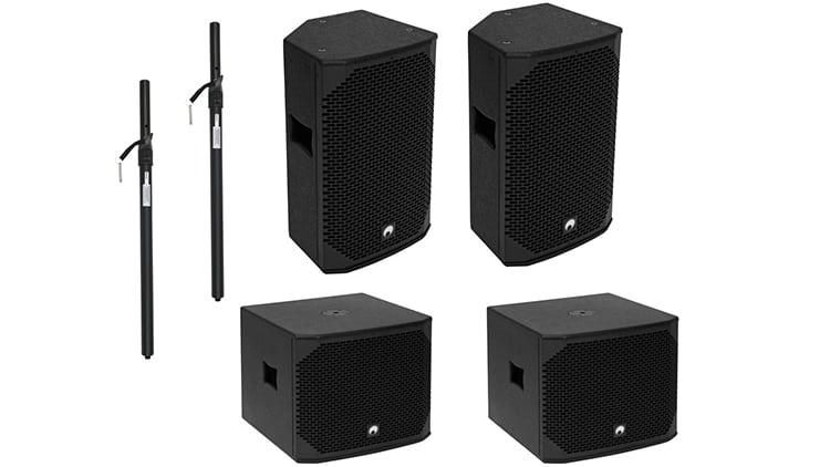 Marktübersicht PA-Lautsprecher - Beispiel-Setups - Omnitronic PA Set AZX aktiv M