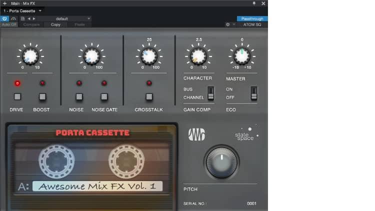 Presonus Retro Mix Legends Porta Casette