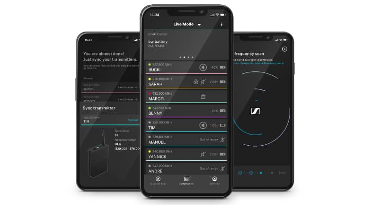 Sennheiser Evolution Wireless Digital App